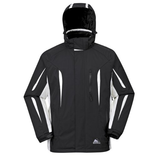 Cox Swain Herren 2-Lagen Ski Outdoor Funktionsjacke Elevation, Colour: Black/White, Size: