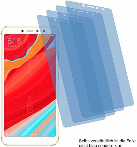4X Crystal Clear klar Schutzfolie für Xiaomi Redmi S2 Bildschirmschutzfolie Displayschutzfolie Schutzhülle Bildschirmschutz Bildschirmfolie Folie