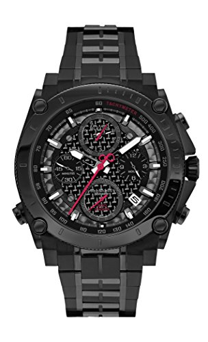 Bulova Herren-Armbanduhr Precisionist Chronograph Analog Quarz Edelstahl 98G257