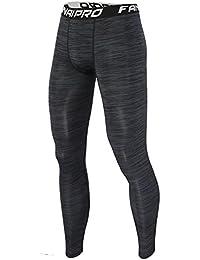 Herren Hose Fitness Leggings Long Tights Pro Trainingshosen Schnell  Trocknend,Schwarz c77b7aedc3