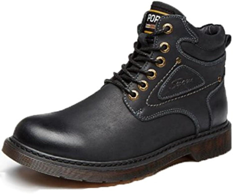 Zapatos De Hombre Cuero Botas Martin Además De Terciopelo Zapatos Casuales Solteros Zapatos Incrementados Zapatos  -