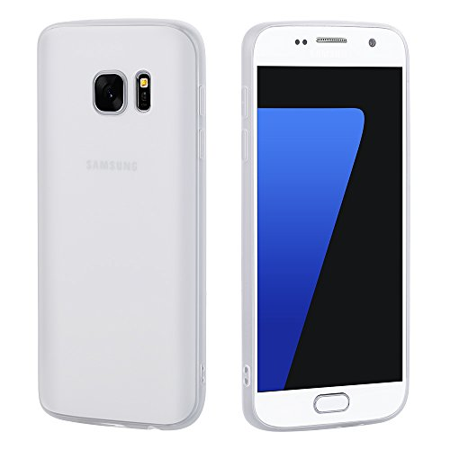 Preisvergleich Produktbild Galaxy S7 Schutzhülle Cover, CAFELE Ultraslim Case TPU Matte Hülle für SAMSUNG S7 (Weiß)