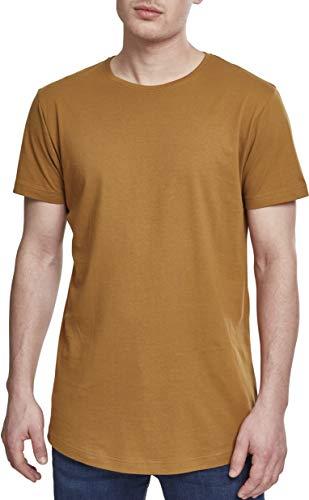 Urban Classics Herren T-Shirt Shaped Long Tee TB638, Braun (nut), 2XL
