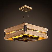TYDXSD Americano legno pietra candela lampadario moderno nuovo stile cinese tinta legno salotto sala da pranzo menorah pendente 560 * 230mm , white