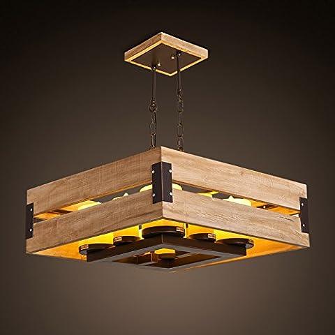 KHSKX American wood pietra lampadario di candela nuova e moderna Cinese-stile in legno massiccio soggiorno sala da pranzo menorah ciondolo 560*230 mm , bianco caldo