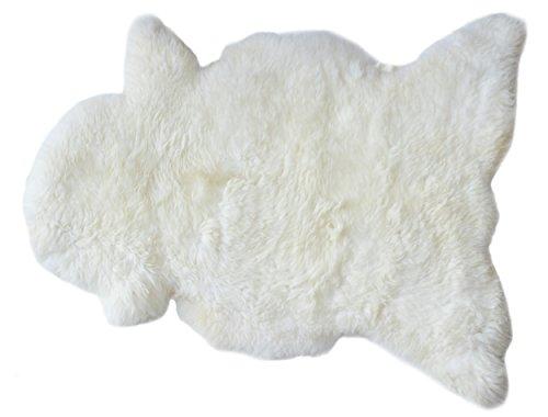 Flauschiges Lammfell Schaffell aus Öko Produktion ideale kuschlige Einlage für Buggy und Bett hochwertige Couch und Sofadeko -