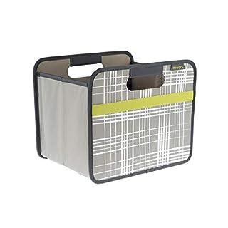 Faltbox Classic Small Stein Grau / Brushed Lines 32x26,5x27,5cm stabil abwischbar Polyester Premium Qualität Retro Trend Wohnen Einrichtung Möbel Sortierung Aufbewahren Verstauen Regalbox