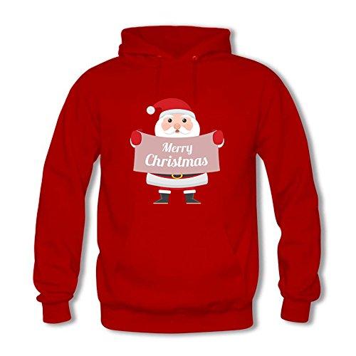 Men Women Unisex Sweatshirt Hoodie Cute Christmas Santa Claus Printed Top Pullover Outwear XL