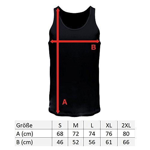 FABTEE Surf - Tank Top Träger Shirt Männer Dark Heather Grey