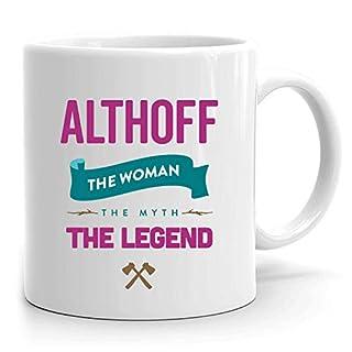 Althoff Mug: Personalized Gift, Ceramic Mug That says Althoff, 11 oz