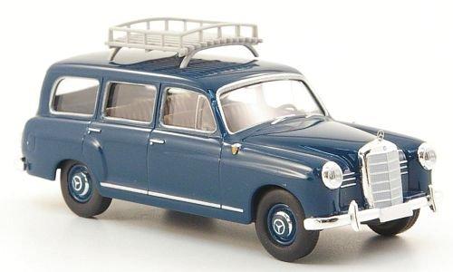 Mercedes 180 Kombi, blau, mit Dachgepäckträger, Modellauto, Fertigmodell, Brekina Starmada 1:87