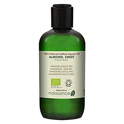 Naissance Sweet Almond Oil 250ml Certified Organic 100% Pure by Naissance