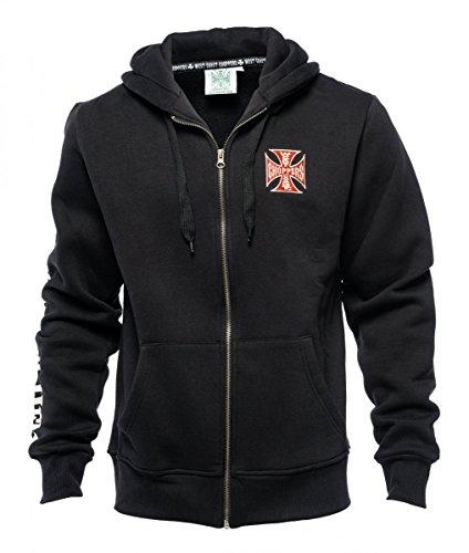 WEST COAST CHOPPERS Zip Hoodie EL Diablo, Farbe:schwarz, Größe:M
