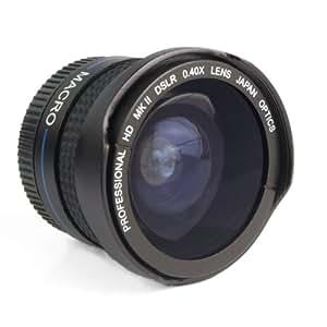 Zeikos 0.40x Objectif Super Fisheye pour appareil photo numérique compact et camescopes