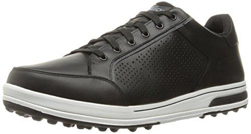 Skechers 2017 GO Golf Drive 2 -LX Premium Leather Mens Golf Shoes Black/White9.5UK