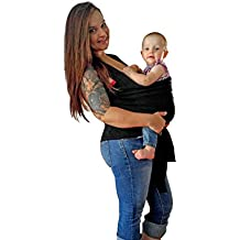 MUZEE–PORTAGE Natural algodón bufanda para transporte bebé bufanda portador de bebé, tamaño, cómodo