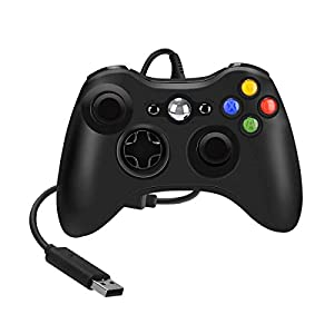 YCCTEAM Controller für Xbox 360, Kabelgebundene USB Gamepad Controller für Xbox 360, Ergonomisches Design USB Wired Gamepad Joystick für Xbox 360 PC Windows7 XP