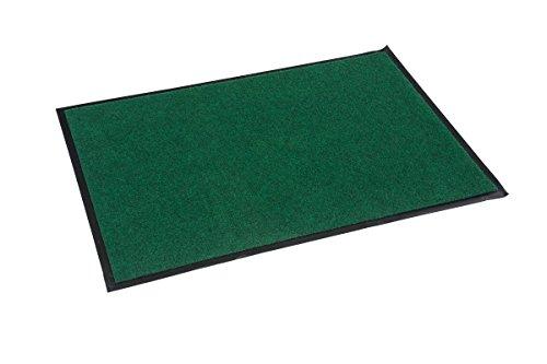 Fußmatte innen / außen grün, waschbar, 60 x 90 cm, rutschfest, Türmatte, Schmutzfangmatte, Sauberlaufmatte, Eingangsbereich