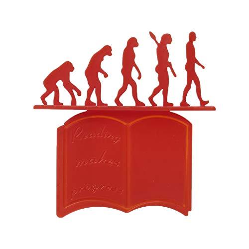 FangWWW - Segnalibro 3D in silicone, teoria dell'evoluzione, Rosso, ONE