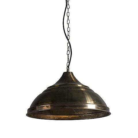 QAZQA Industrie / Klassisch / Antik / Landhaus / Vintage / Rustikal / Esstisch / Esszimmer / Pendelleuchte / Pendellampe / Hängelampe / Lampe / Leuchte Arctic Gold / Messing / Innenbeleuchtung / Wohnzimmer / Schlafzimmer / Küche Metall Rund LED geeignet E27 Max. 1 x 40 Watt