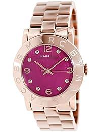 Marc Jacobs MBM8625 - Reloj con correa de piel para mujer, color rosa / gris