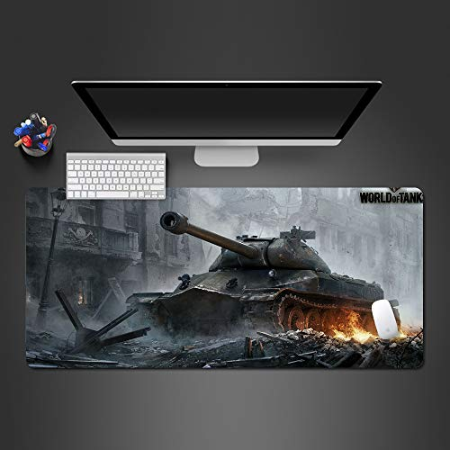 Stapler-tanks (Tank World Mauspad High End Gaming Mauspad Spieler Mauspad Spiel Computer Notebook großes Gamepad 900x300x2)
