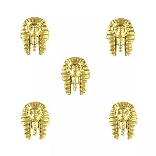 Beauty7 Nail Art 10 PCS 3D Egyptien Strass Doré Sticker Métal Alliages Pour Décoration Ongle Manucure