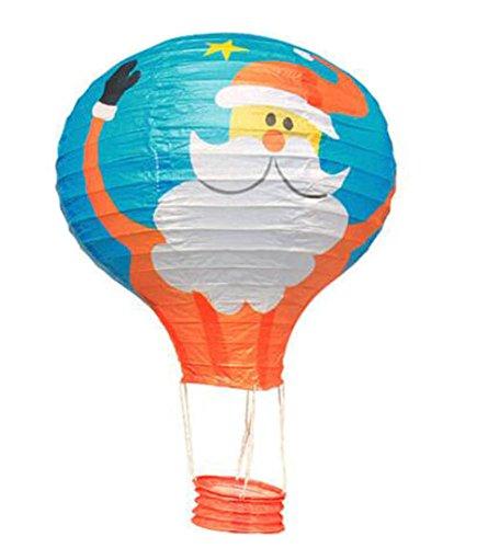 (Black Temptation Geburtstagsparty/Weihnachten/Ostern/Mall Dekoration hängen Papier Laterne Heißluftballon 30cm(Weihnachtsmann))