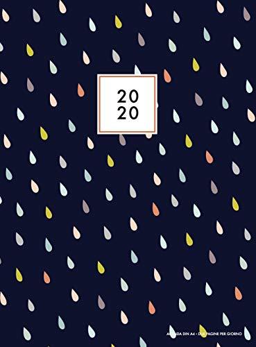 Agenda 2020 due pagine per giorno: Agenda 2020 giornaliera A4 in italiano, calendario 2020, copertina rigida, Agenda 12 mesi 2020, 1 gennaio al 31 dicembre 2020, colori pastello