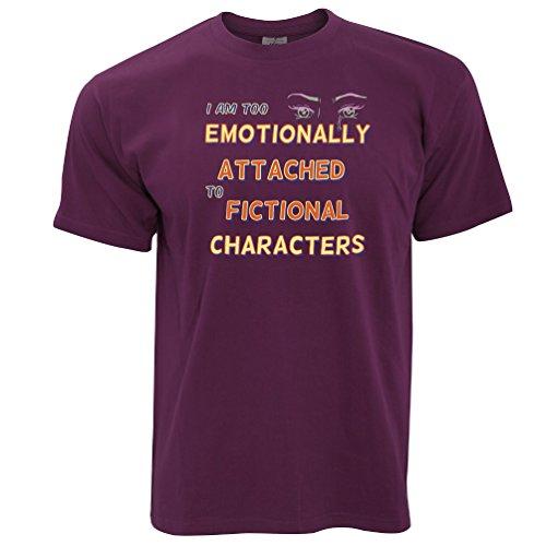 Zu emotional Fiktive Charaktere angebaute Herren T-Shirt Maroon
