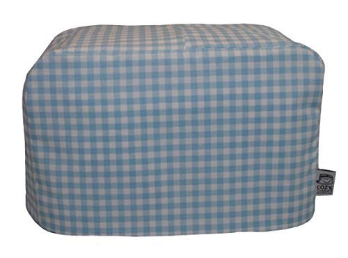 cozycoverup® Staub Cover für Toaster in blau Gingham (Dualit New Gen Classic 4Slice) (Dualit 4 Toaster Slice)