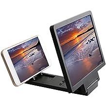 Soporte 3d Portátil Plegable De Cristal De La Pantalla Ampliada Amplificador Para Teléfonos De Negro