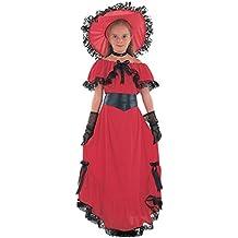Scarlet Disfraz de época para niña, talla 7-9 años ...