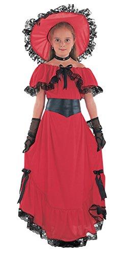 Scarlet - Disfraz de época para niña, talla 7-9 años (CC406-KIT 1)