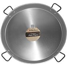 Garcima paellera de acero pulido, color gris, 90cm
