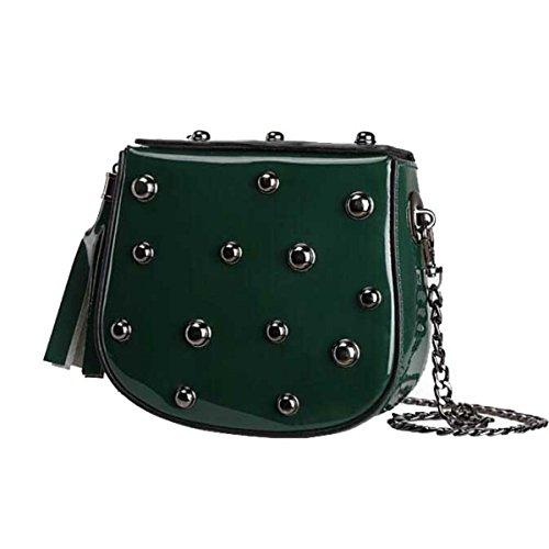 Frauen Schulter Aber Kuriertasche Mode Liu Nagel Mehrfarbig Kleine Quadratische Tasche Darkgreen