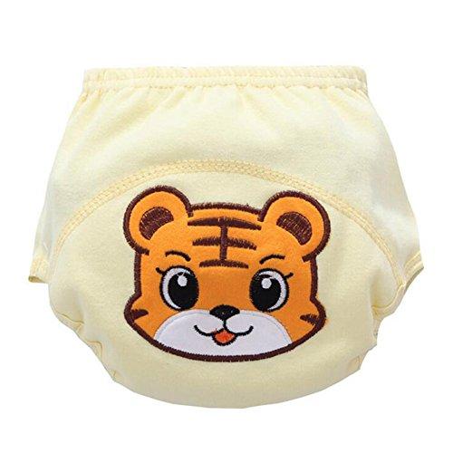 Highdas 2016 2er Pack Baby-Karikatur Patern Nappy Stoffwindeln Trainingshose Tiger / 90