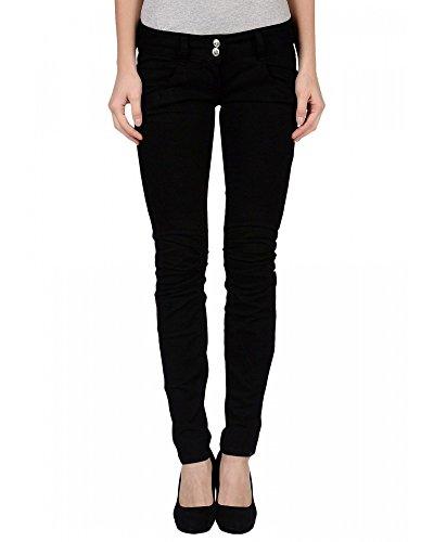 MET Jeans neri con strass arricciatura sul ginocchio con strass (26)