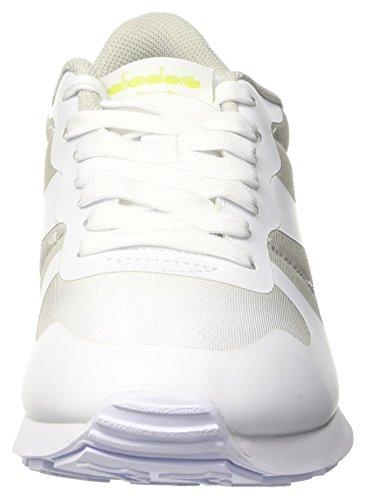 Diadora Camaro mm, Sneaker a Collo Basso Unisex-Adulto Bianco (Bianco/grigio Roccia)