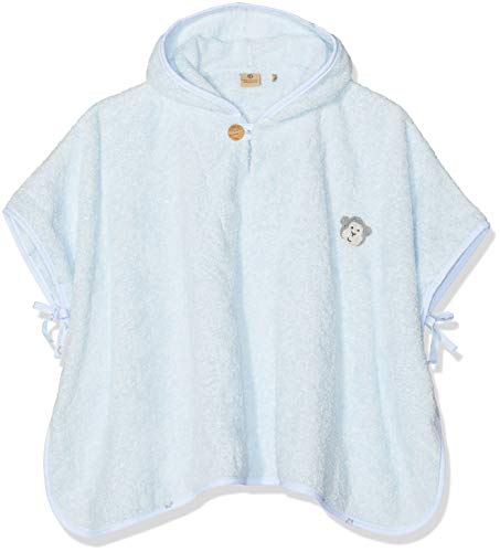 Bellybutton mother nature & me Unisex Bade Poncho Bademantel, Blau (Baby Blue 3023), One Size (Herstellergröße: 00)