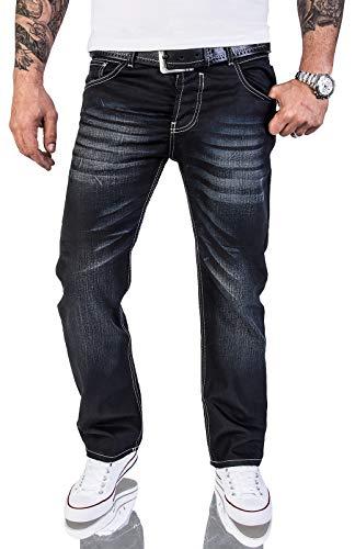 Rock Creek Herren Designer Jeans Wachsbeschichtung Coated Stonewash RC-2064 W38 L32