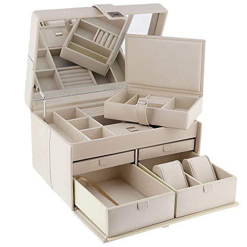 Dulwich Designs 70347 Naples Boîte à bijoux en cuir Grand format