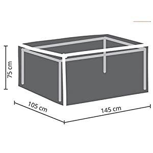 Perel Garden OCT140 Protective Cover for Garden Table Maximum 140 cm Anthracite 145 x 105 x 75 cm