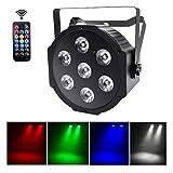UKing LED Par Lichter 7 x 10W LED DMX Strahler RGBW Disko Licht mit Wireless...