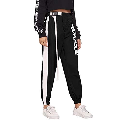8098f9d99ac17 Mujer Pantalones Harajuku Hip Hop Streetwear Pantalones Estilo Callejero.