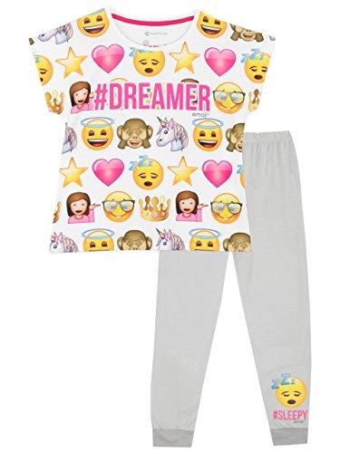 Kurze Mädchen Pyjamas (Emoji Mädchen Emoji Schlafanzug 158)