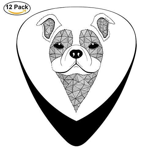 Bulldog 3 Celluloid Guitar Picks Unique Music Gifts -