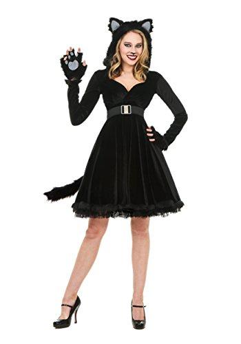 Frauen Schwarze Katze Kostüm - XL