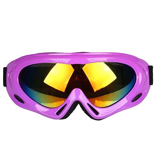 Radbrille Klar Einzelne Schicht Erwachsenen Kinder Bunte Skibrille Professioneller Schneebrille Windschutzscheibe Nicht Für Straßenverkehr Motorradspiegel Im Freien Purple Kinder