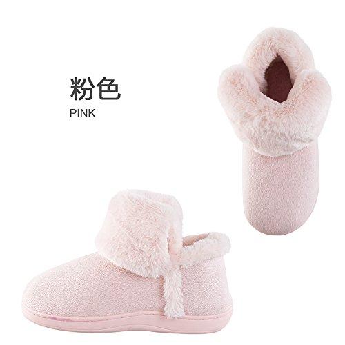 Cotone fankou pantofole donna coppia inverno borsa con caldo maschio maschio le donne in stato di gravidanza non - Slittamento semplice home spessa scarpe scarpe di cotone Braun